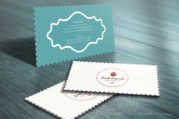 Chef Die Cut Business Card