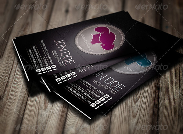 Chef Restaurant Business Card
