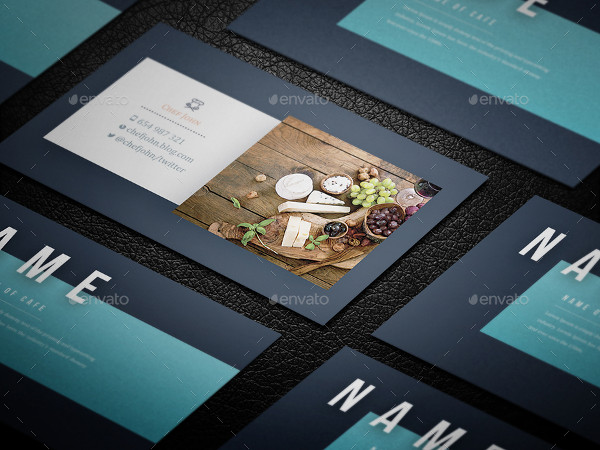 Clean Chef Business Card Template