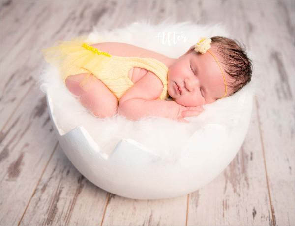 Color Burst Newborn Photoshop Actions