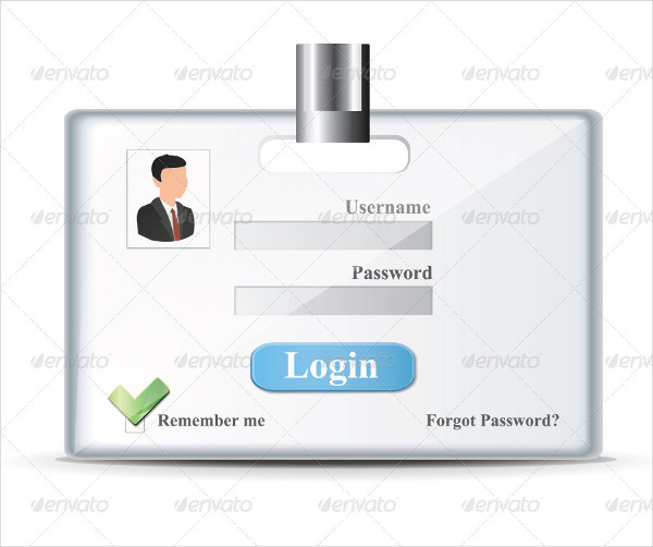 Company Login Form Template