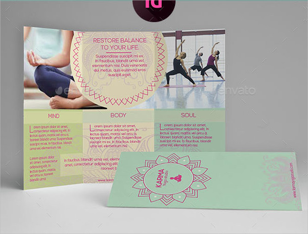 Core Yoga Brochure Template
