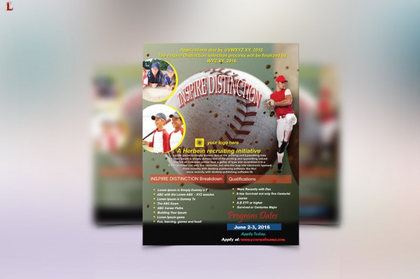 Custom Baseball Fundraiser Flyer Template
