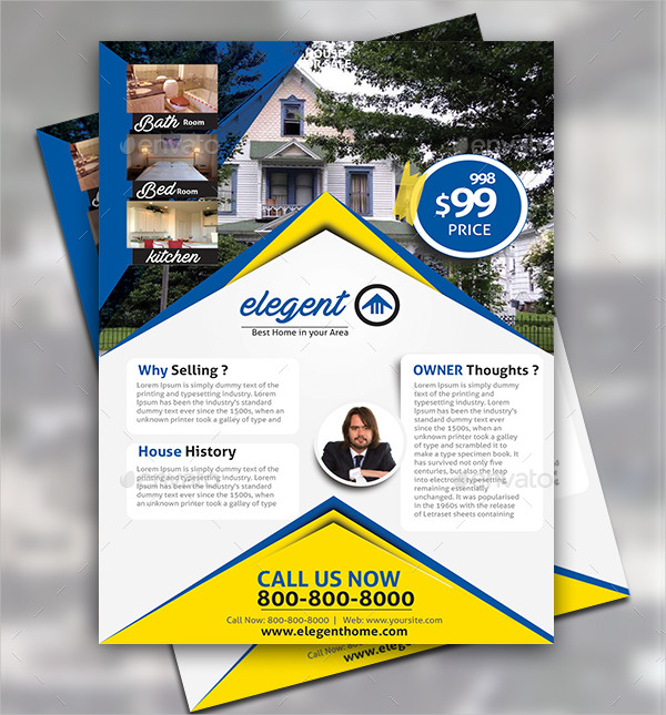 Custom House For Sale Promotion Flyer Design