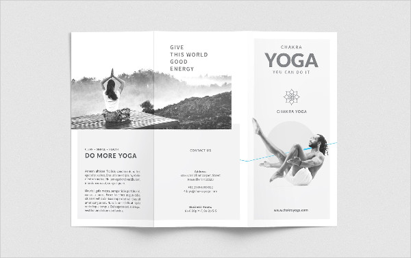 Easily Editable Yoga Trifold Brochure