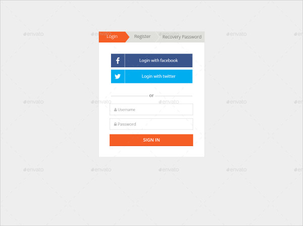 Flat Login Forms Template
