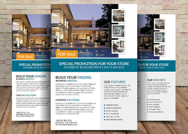 For Sale House Flyer