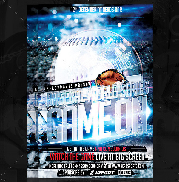 Game On Baseball Championship Flyer