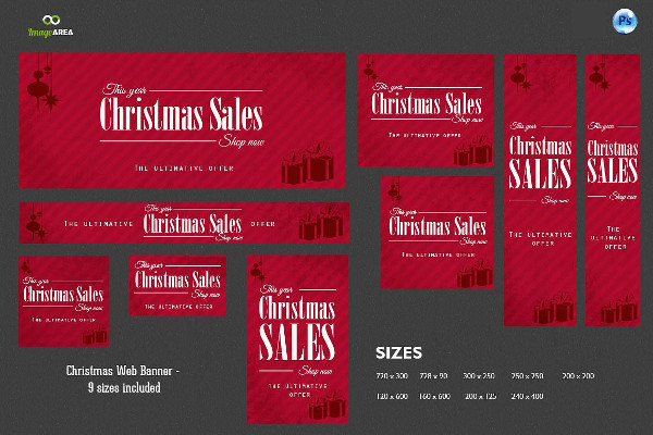 Happy Holidays Web Banners Design