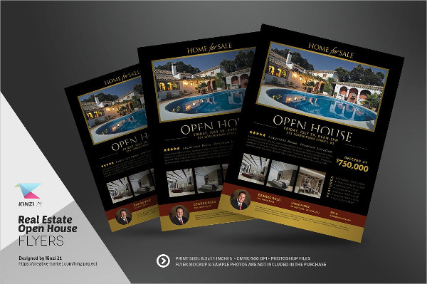 Open House Party Flyer Template