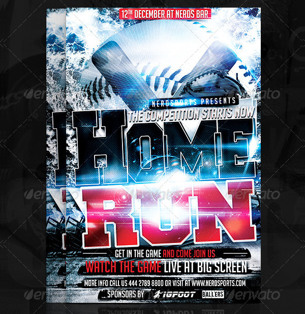 Home Run Baseball Flyer