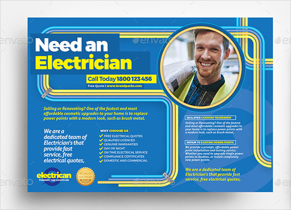 Best Electrician Flyer Template
