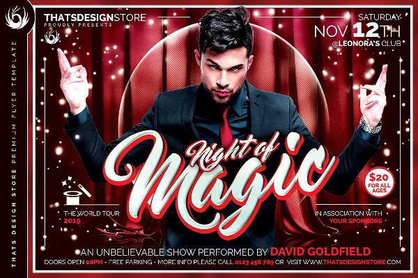 Magic Performer Flyer Template