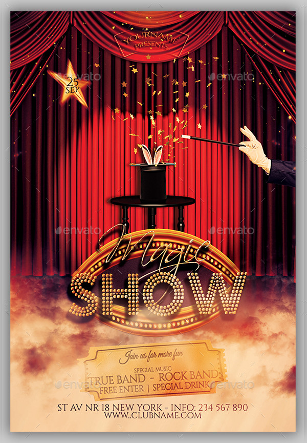 Magic Show Time Flyer