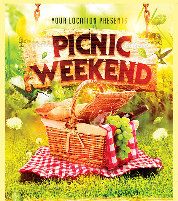 Custom Picnic Weekend Flyer Template