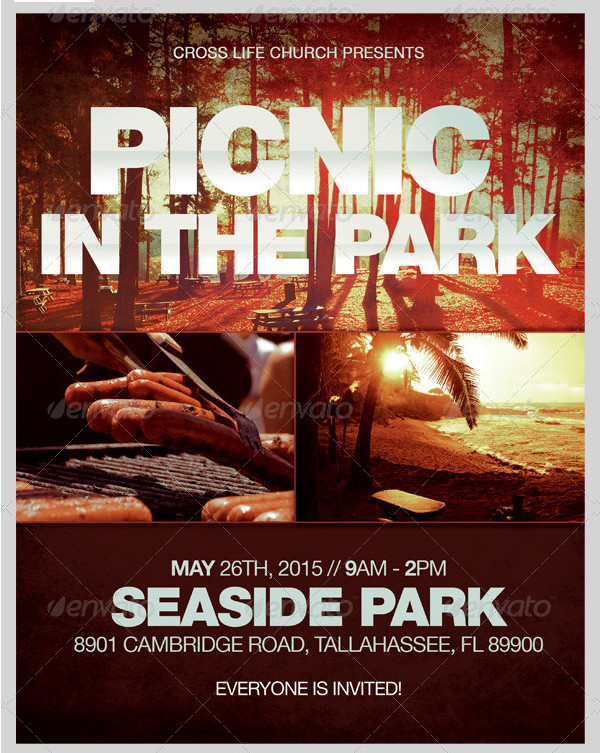 Picnic In The Park Flyer Template