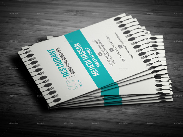 Printable Chef Business Cards PSD