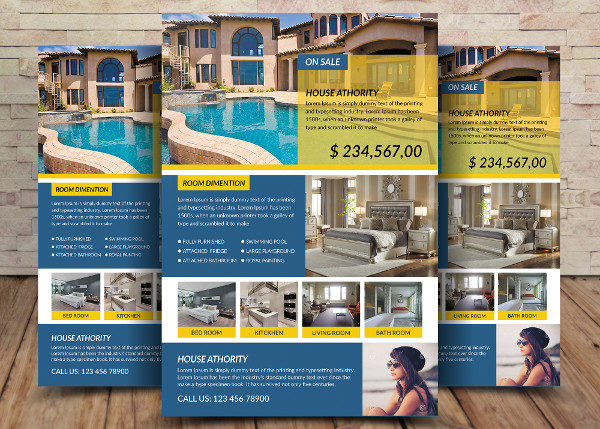Sample House for Sale Flyer