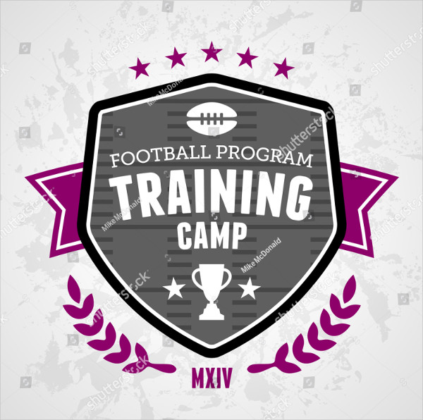 Sports Football Training Camp Badge