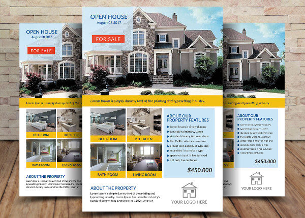 Unique House For Sale Flyer Design