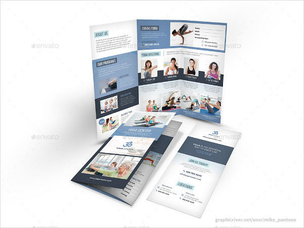 Yoga Training Studio Trifold Brochure