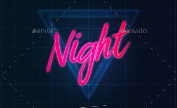80's Abstract Retro Text Effect