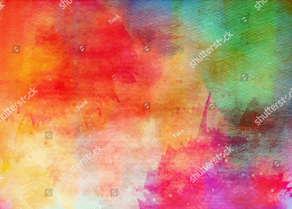 Abstract Colorful Watercolor for Background