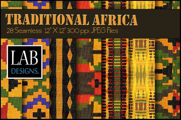 African Woven Fabric Textures