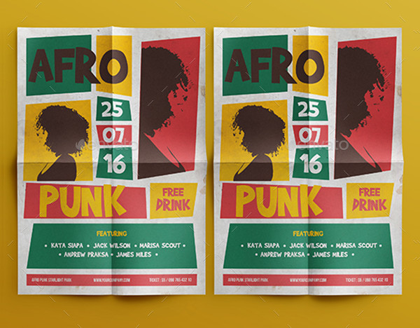 Afro Punk Flyer Design