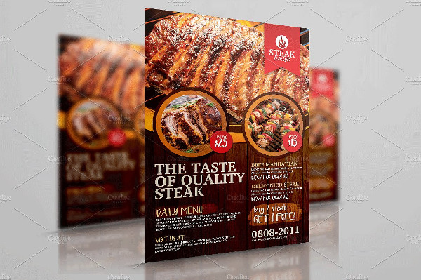 Barbecue Grill Restaurant Flyer