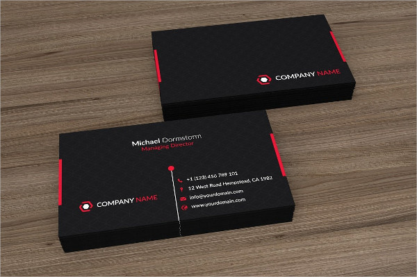 Black Red Corporate Business Cards Design