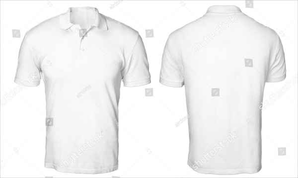 Blank Polo Shirt Mock-Up Template