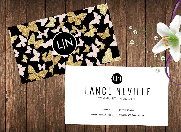 Butterfly Name Card Templates