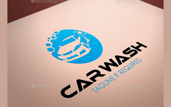Car Wash Cleaning Logo Template