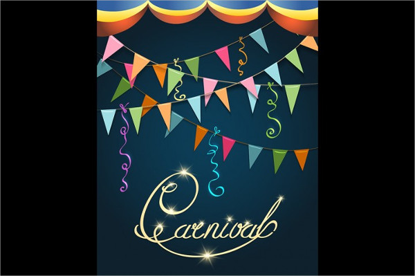 Carnival Dance Poster Design Template