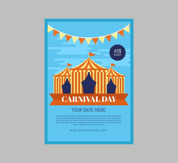 Carnival Poster Template Free Download