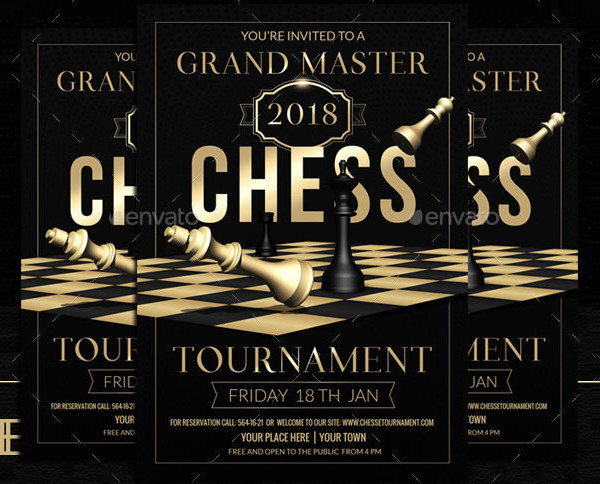 Chess Grand Masters Flyer Template