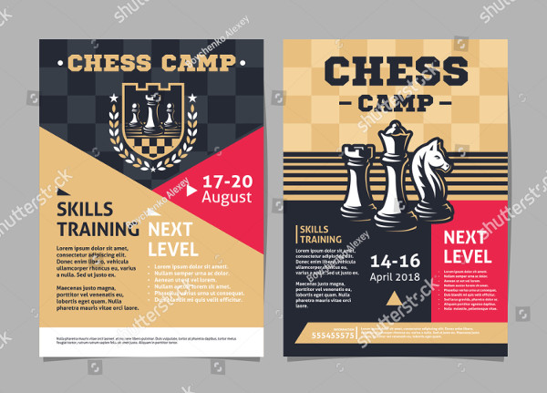 Chess Camp Flyer Template