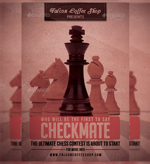 Custom Chess Competition Flyer