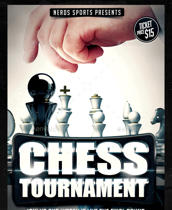 Famous Chess Club Flyer Template