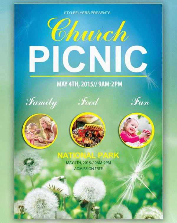Church Picnic Free Flyer Template