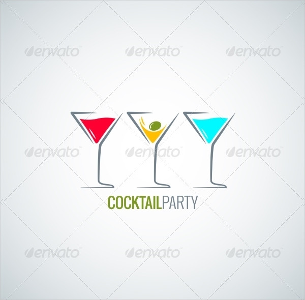 Cocktail Party Glass Background