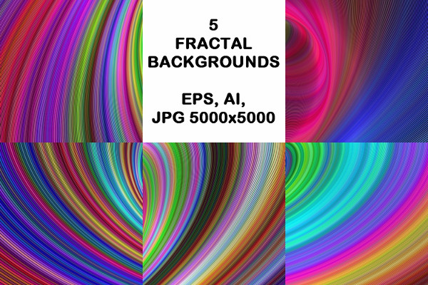 Colorful Fractal Backgrounds
