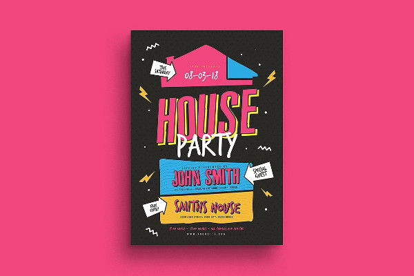 Cool House Party Flyer