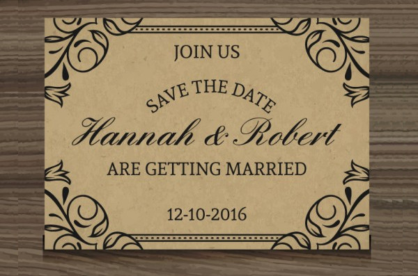 Free Download Elegant Wedding Invitation in Rustic Style
