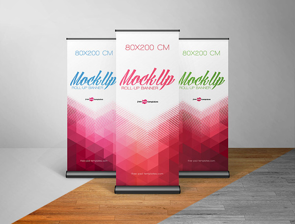 Free Roll-UP Banner Mock-Up in PSD