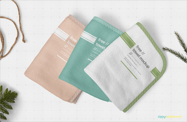 Free Download Beautiful Hand Towel Mock-Up