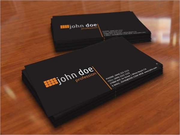 Free Download Personal Business Card in Black Color
