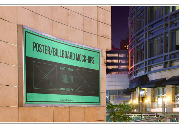 Free PSD Banner Mock-Up Template