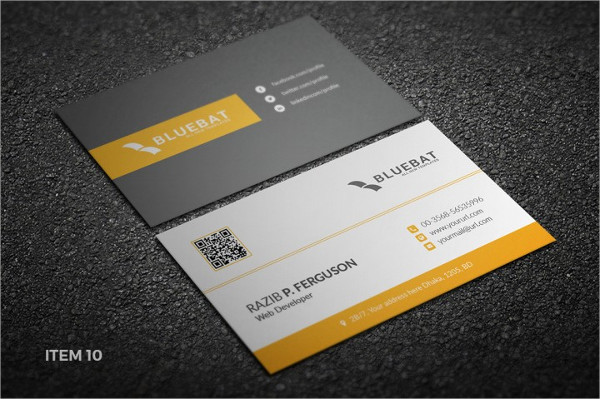 Fully Editable Personal Business Cards Bundle